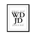 Jesus-WDJD Framed Panel Print
