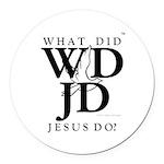 Jesus-WDJD Round Car Magnet