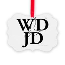 Jesus-WDJD Picture Ornament