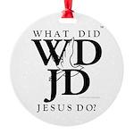Jesus-WDJD Round Ornament