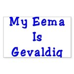 Jewish Eema is Gevaldig Rectangle Sticker