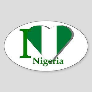 I love Nigeria Oval Sticker