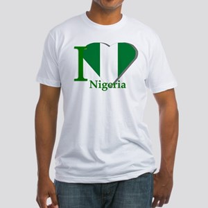 I love Nigeria Fitted T-Shirt