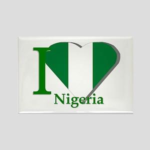 I love Nigeria Rectangle Magnet