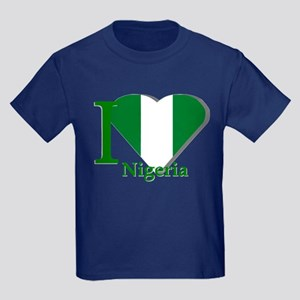 I love Nigeria Kids Dark T-Shirt