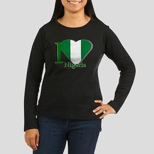 I love Nigeria Women's Long Sleeve Dark T-Shirt