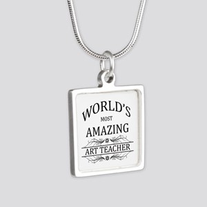World's Most Amazing Art T Silver Square Necklace
