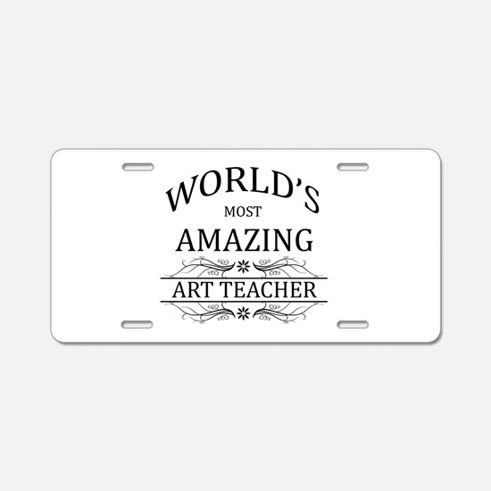 World's Most Amazing Art Te Aluminum License Plate