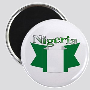 Nigeria flag ribbon Magnet