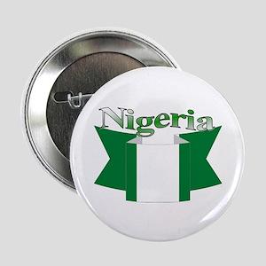Nigeria flag ribbon Button