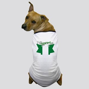 Nigeria flag ribbon Dog T-Shirt