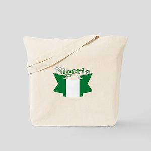 Nigeria flag ribbon Tote Bag
