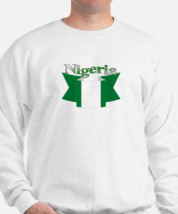 Nigeria flag ribbon Sweatshirt
