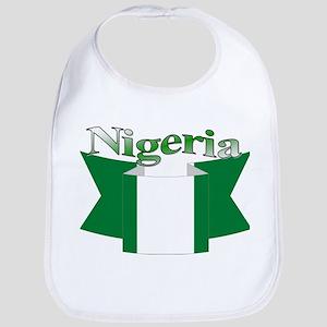 Nigeria flag ribbon Bib
