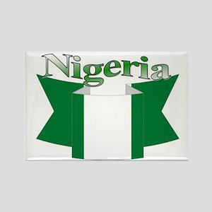 Nigeria flag ribbon Rectangle Magnet