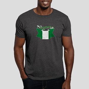 Nigeria flag ribbon Dark T-Shirt