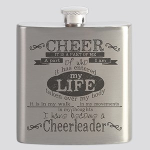 Chalkboard Cheerleading Flask