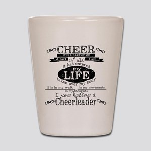 Chalkboard Cheerleading Shot Glass