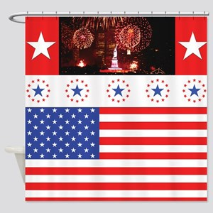 Usa Patriot Shower Curtain