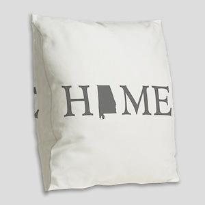 Alabama home state Burlap Throw Pillow