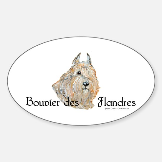 Bouvier Sweetie Sticker (Oval)