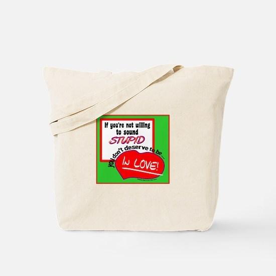 Sound Stupid-Amanda Peet/A Lot Like Love Tote Bag