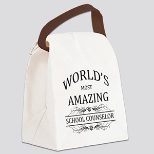 World's Most Amazing School Couns Canvas Lunch Bag