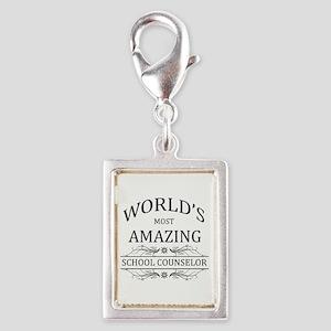 World's Most Amazing School Silver Portrait Charm