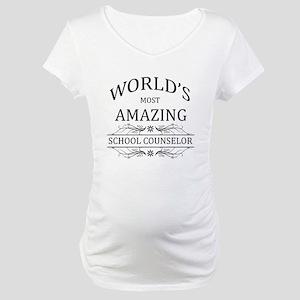 World's Most Amazing School Coun Maternity T-Shirt