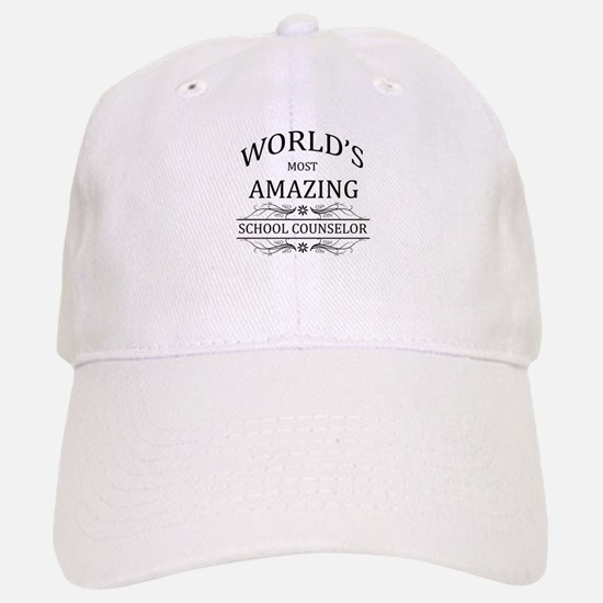 World's Most Amazing School Counselor Baseball Baseball Cap