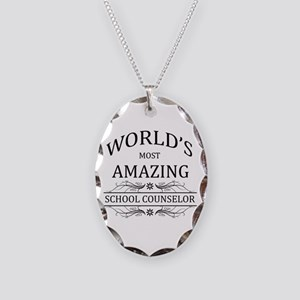 World's Most Amazing School Co Necklace Oval Charm