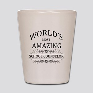 World's Most Amazing School Counselor Shot Glass