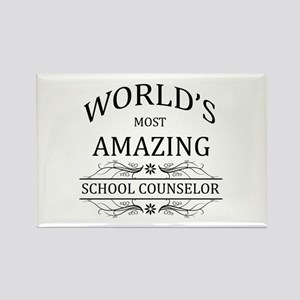 World's Most Amazing School Couns Rectangle Magnet