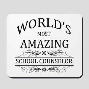 World's Most Amazing School Counselor Mousepad