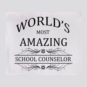 World's Most Amazing School Counselo Throw Blanket