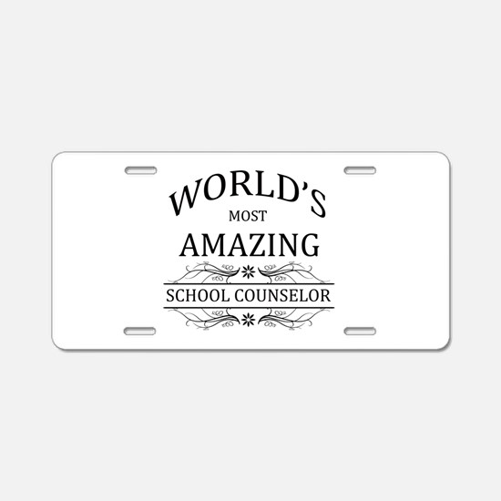 World's Most Amazing School Aluminum License Plate
