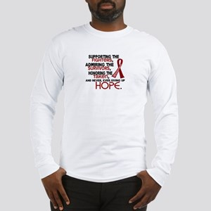 ©Tribute Poem Multiple Myeloma Long Sleeve T-Shirt
