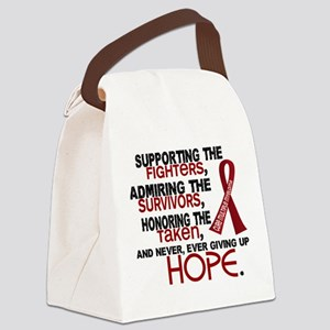 ©Tribute Poem Multiple Myeloma Canvas Lunch Bag