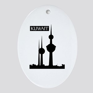 Kuwait Towers, Kuwait City, Kuwait Oval Ornament