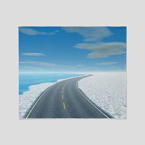 Ice Road Throw Blanket