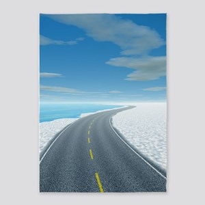 Ice Road 5'x7'Area Rug