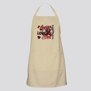 Multiple Myeloma Peace Love Cure 2 Apron