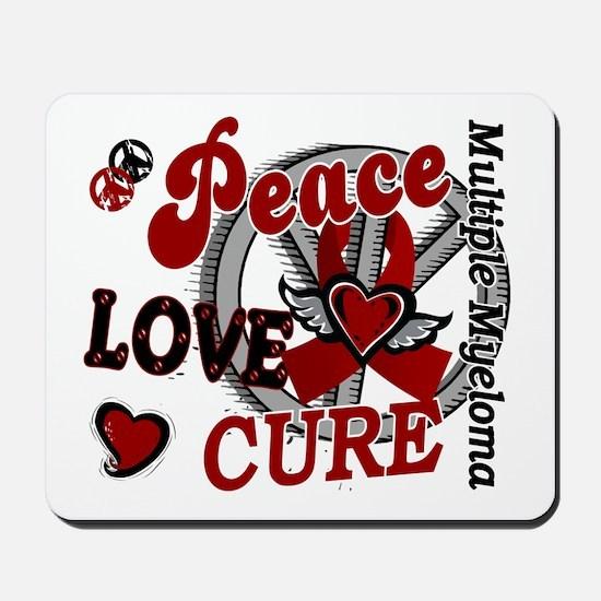 Multiple Myeloma Peace Love Cure 2 Mousepad