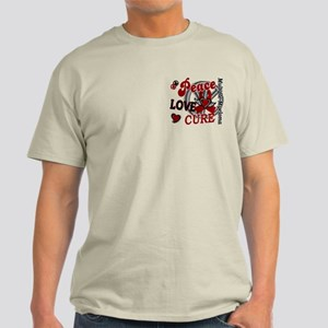 Multiple Myeloma Peace Love Cure 2 Light T-Shirt