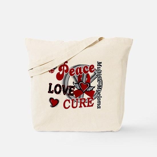 Multiple Myeloma Peace Love Cure 2 Tote Bag