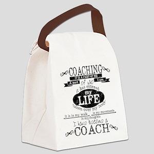 Chalkboard Coach Canvas Lunch Bag