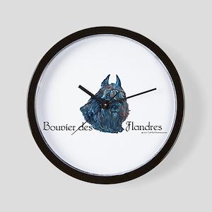 Bouvier des Flandres Black Wall Clock