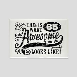 65th Birthday Rectangle Magnet