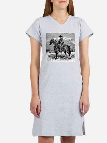 Chilean Cowboy (El Huaso Chilen Women's Nightshirt