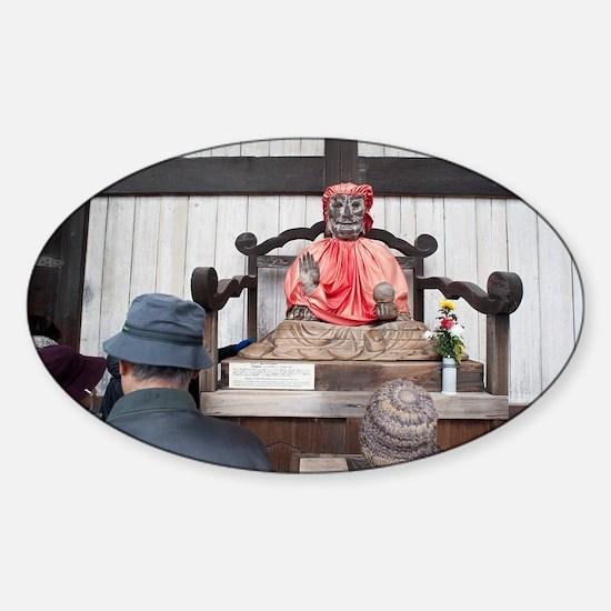 Binzuru Sonja Statue Sticker (Oval)